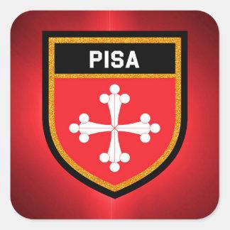 Pisa Flag Square Sticker