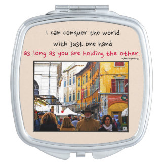 Pisa Market In Alley with Love Quote Mirror For Makeup