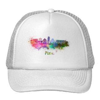 Pisa skyline in watercolor cap