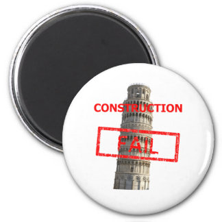 Pisa tower construction fail 6 cm round magnet