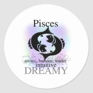 Pisces About You Classic Round Sticker