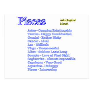 Pisces Astrological Match The MUSEUM Zazzle Gifts Postcard