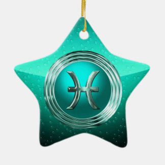 Pisces Astrological Sign Ceramic Star Decoration