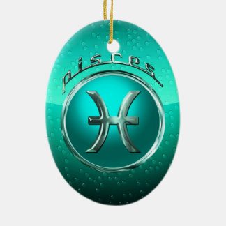 Pisces Astrological Sign Christmas Tree Ornaments