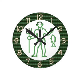 PISCES Astrology Zodiac Symbol Round Wallclock
