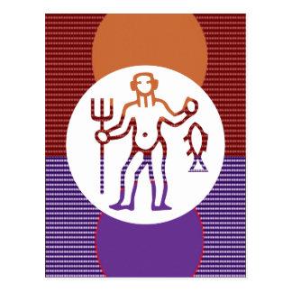 PISCES Astrology Zodiac Symbol Postcard