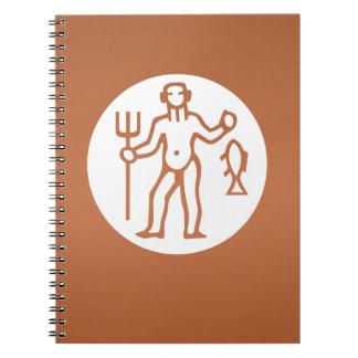 PISCES Astrology Zodiac Symbol Spiral Note Books