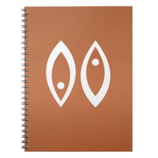 PISCES Astrology Zodiac Symbol Spiral Notebooks