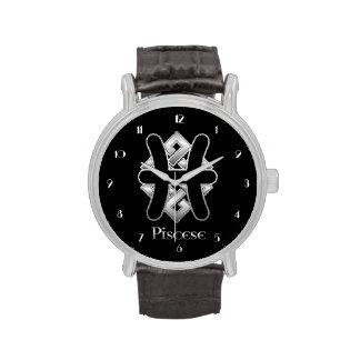 Pisces Birth Sign Celtic Knot Zodiac Wrist Watch