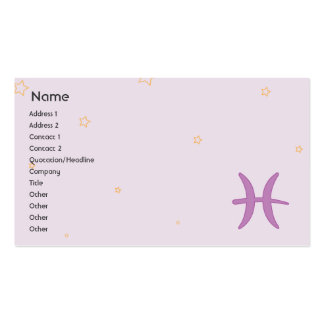 Pisces - Business Business Card Templates