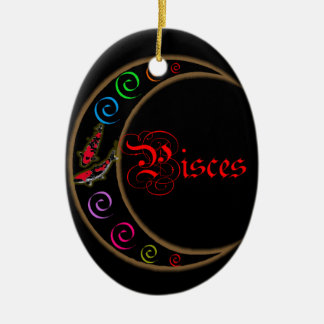 Pisces Ceramic Oval Decoration