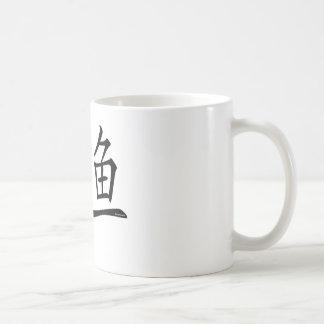 Pisces Chinese Symbol Basic White Mug