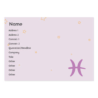 Pisces - Chubby Business Card Templates