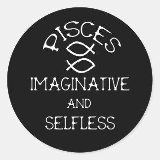 Pisces Classic Round Sticker