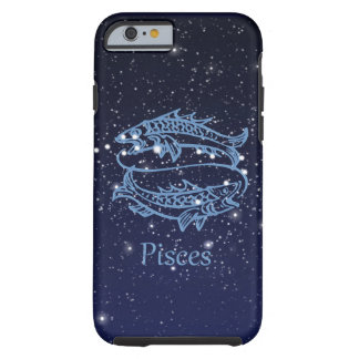 Pisces Constellation and Zodiac Sign with Stars Tough iPhone 6 Case