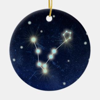 Pisces Constellation   Custom Name Round Ceramic Decoration