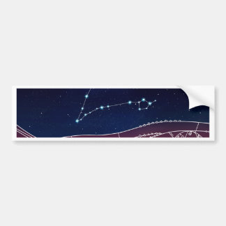 Pisces Constellation Design Bumper Sticker