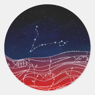 Pisces Constellation Design Classic Round Sticker