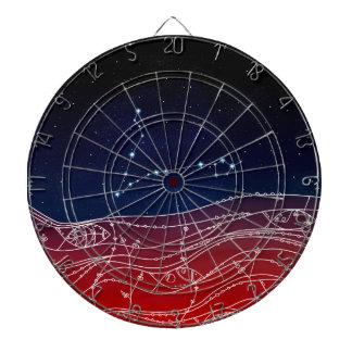 Pisces Constellation Design Dartboard