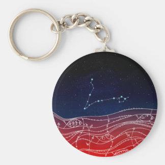Pisces Constellation Design Key Ring