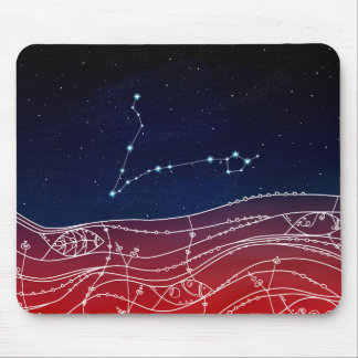 Pisces Constellation Design Mouse Pad