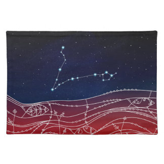 Pisces Constellation Design Placemat