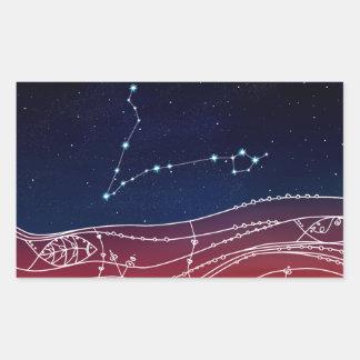 Pisces Constellation Design Rectangular Sticker