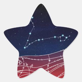 Pisces Constellation Design Star Sticker