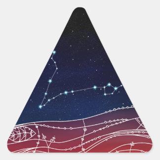 Pisces Constellation Design Triangle Sticker