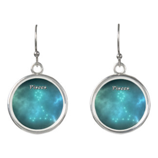 Pisces constellation earrings