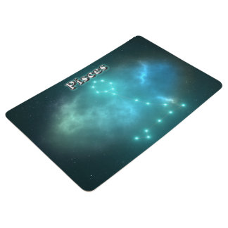 Pisces constellation floor mat