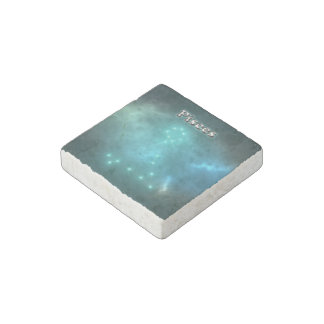 Pisces constellation stone magnet