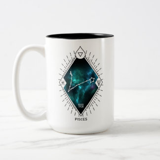 Pisces Constellation & Zodiac Symbol Two-Tone Coffee Mug