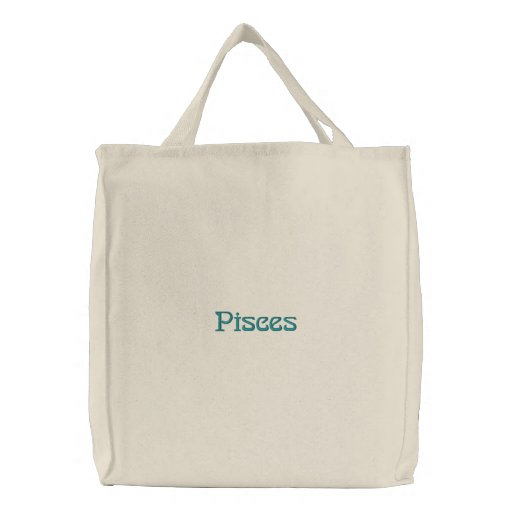 PISCES EMBROIDERED BAG