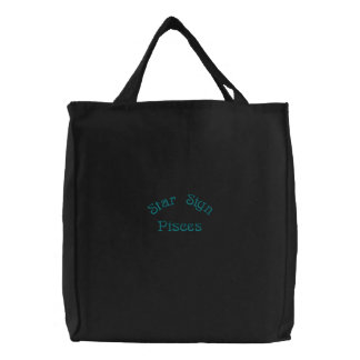 PISCES EMBROIDERED TOTE BAGS