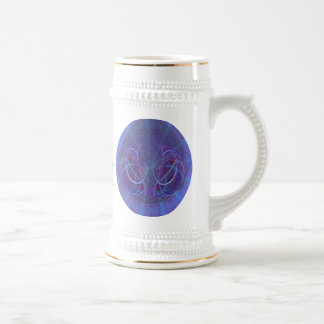 Pisces Fish Abstract Art Beer Steins