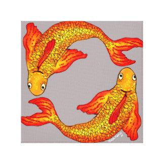 Pisces Fish Zodiac Art Canvas