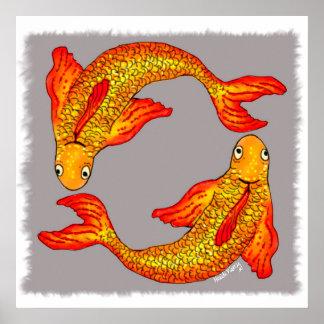 Pisces Fish Zodiac Art Poster