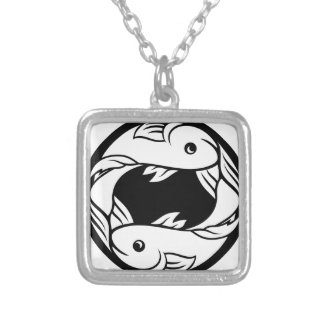 Pisces Fish Zodiac Horoscope Astrology Sign Silver Plated Necklace