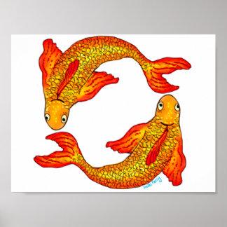 Pisces Fish Zodiac Sign Art Poster