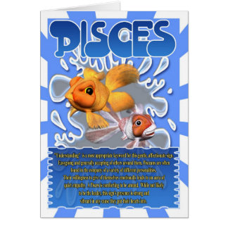 Pisces Fun Facts horoscope Card