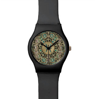 Pisces Gold Lace Mandala Watch