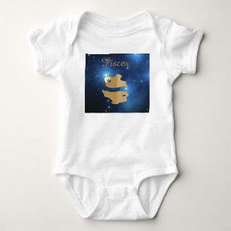 Pisces golden sign baby bodysuit