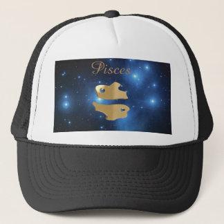 Pisces golden sign trucker hat