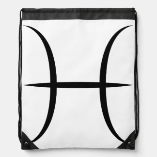 pisces greek astrology zodiac horoscope symbol drawstring bag