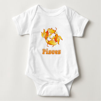 Pisces illustration baby bodysuit