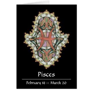 Pisces Khamsa Note Card