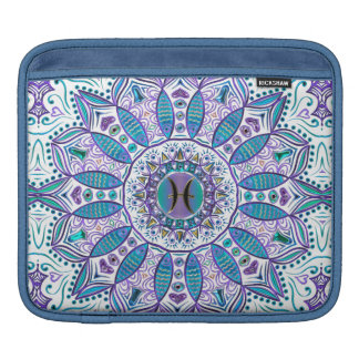 Pisces Mandala in Turquoise and Purple iPad Sleeve