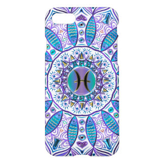 Pisces Mandala in Turquoise and Purple iPhone 8/7 Case