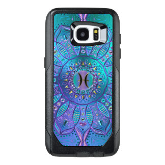 Pisces Mandala in Turquoise and Purple OtterBox Samsung Galaxy S7 Edge Case